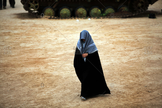 Woman with scarf on the border of Iran and Iraq, Ahwaz, Iran