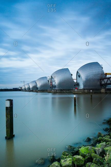 Thames Barrier on the River Thames, London, England, United Kingdom