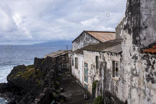 Abandoned house at Corvo, Azores, Portugal
