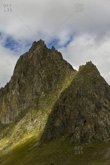 Jagged mountain peaks in Icelandic