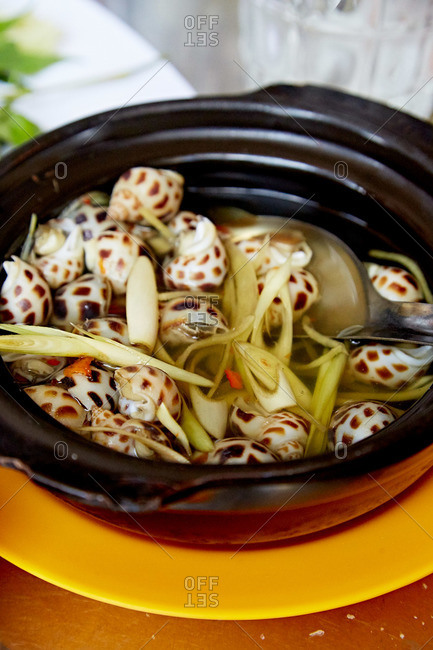 Bowl of snail soup