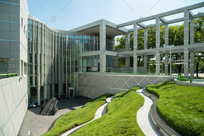 Nagoya, Japan - August 15, 2015: Nagoya City Art Museum, Nagoya, Japan
