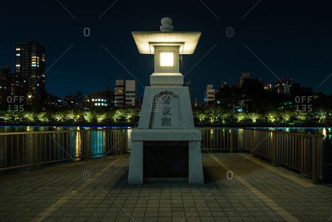 September 21, 2015: Lantern riverside in Osaka, Japan