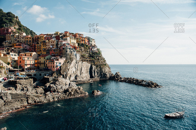 Colorful village on the Cinque Terre coast in Italy