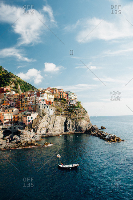 Colorful village on a cliff in Cinque Terre, Italy