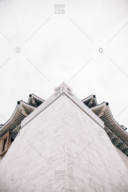 Low angle view of Ching Kai-shek Memorial Hall in Taipei, Taiwan
