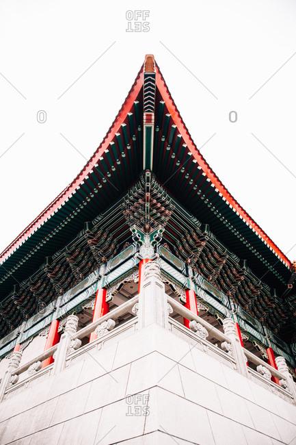 Low angle view of corner of building Memorial Hall Square, Taipei, Taiwan