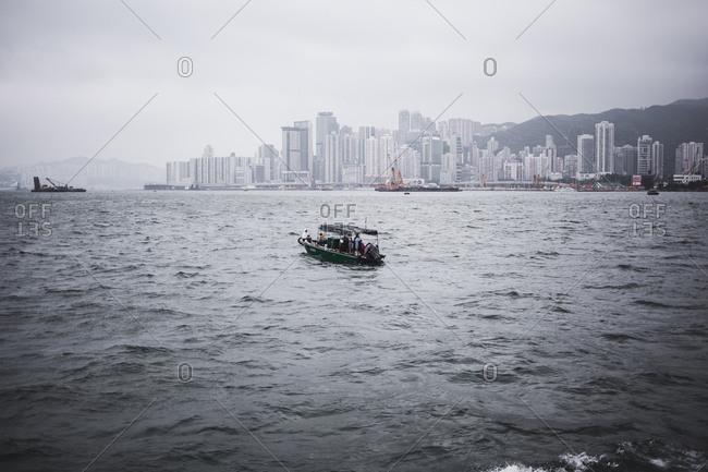 Boat in Victoria Harbor, Hong Kong