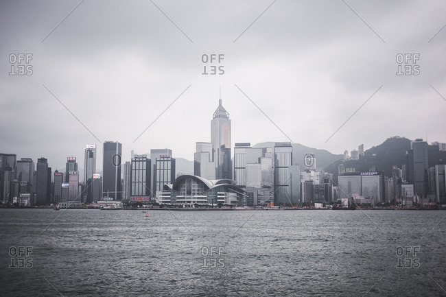 View of Hong Kong skyline from Victoria Harbor