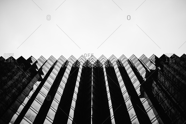 Low angle view of zig zag building fa�ade