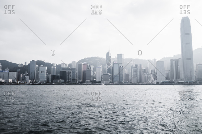 Hong Kong Central skyline as seen from Victoria Harbor