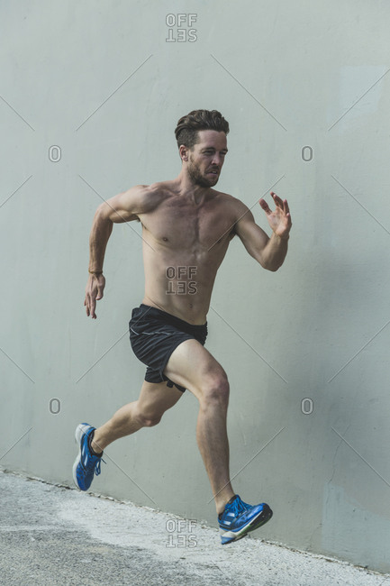Man running very fast