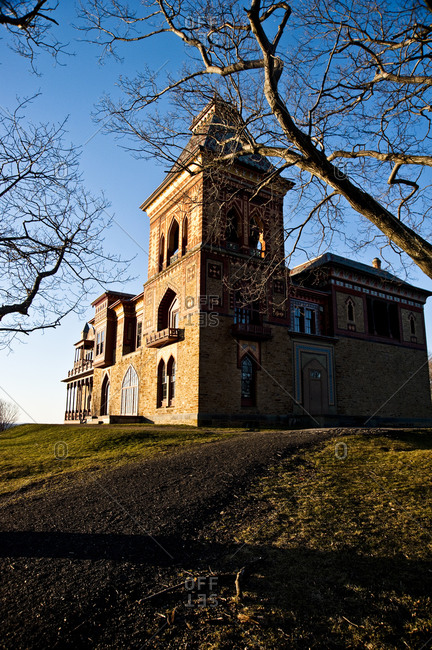 Hudson, New York - March 19, 2011: Olana historic site, the home of painter Frederic Edwin Church