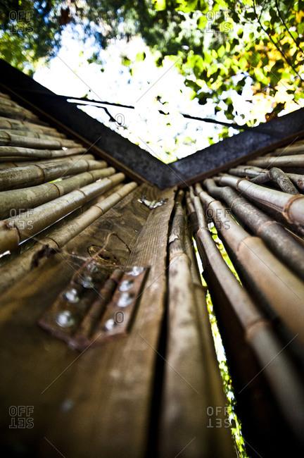 Detail of bamboo screen