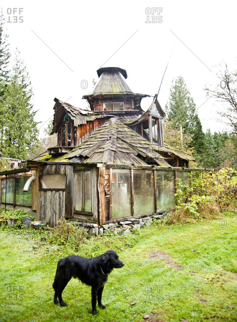 Sedro-Woolley, Washington - November 16, 2012: Another one of SunRay Kelley's homes on his property