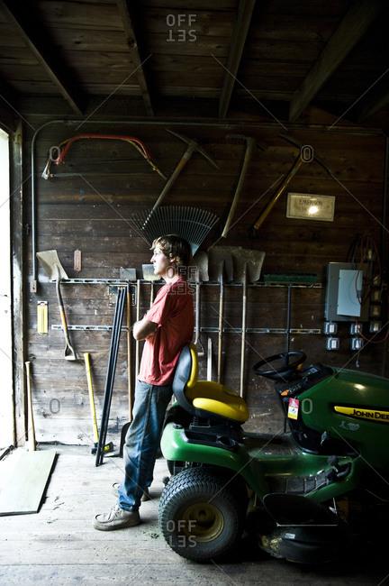 Concord, Massachusetts - August 22, 2010: Caretaker of the Ralph Waldo Emerson House