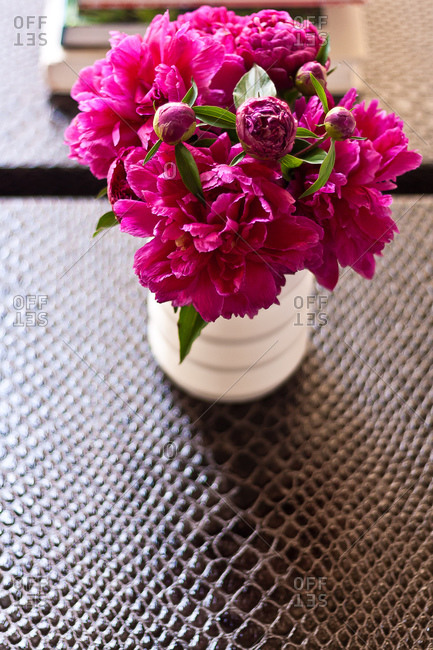 Still life of pink flowers