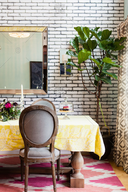 Interior of a stylish dining room