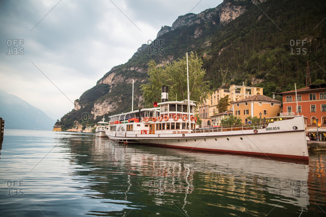 Boat on Lake Garda, Italy