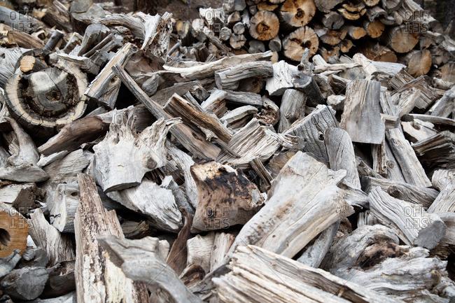 Pile of seasoned firewood