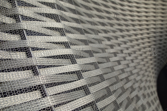 London - December 16, 2014: Close up of steel and mesh sculpture