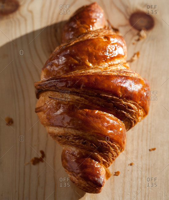 Close up of a croissant