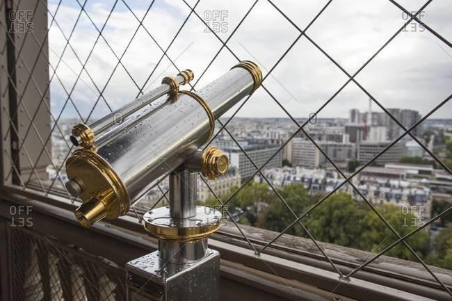 Telescope on Eiffel Tower, Paris, France