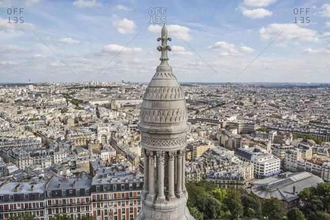 View from Sacre-Coeur Basilica, Paris, France
