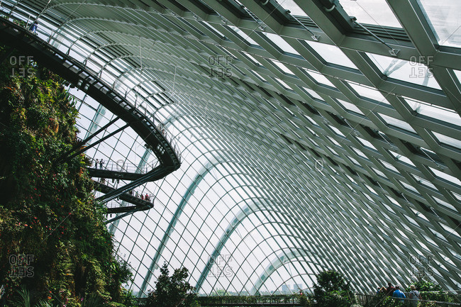 Singapore - January 19, 2015: Cloud Mountain conservatory in Singapore