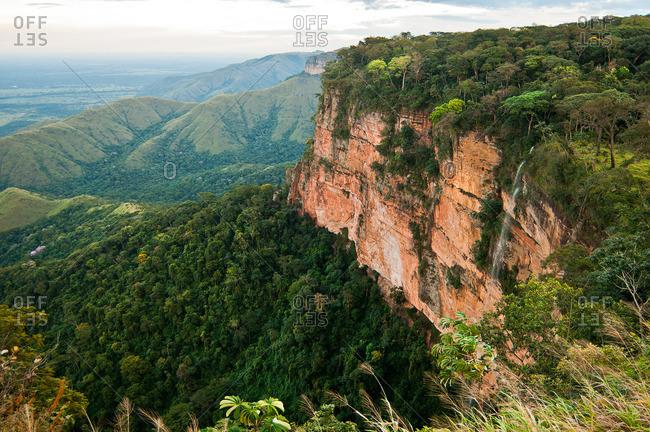 Majestic cliff landscape in Mato Grosso, Brazil