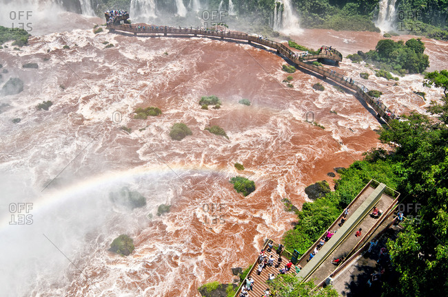 Boardwalk by Iguazu Falls, Brazil