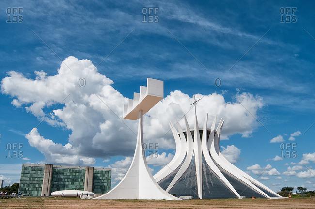 Brasilia, Brazil - November 10, 2015: Catedral Metropolitana in Brasilia, Brazil