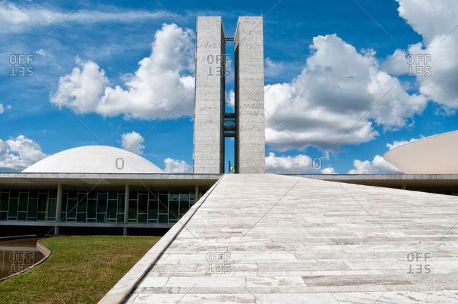 Brasilia, Brazil - November 10, 2015: Congress buildings in Brasilia, Brazil
