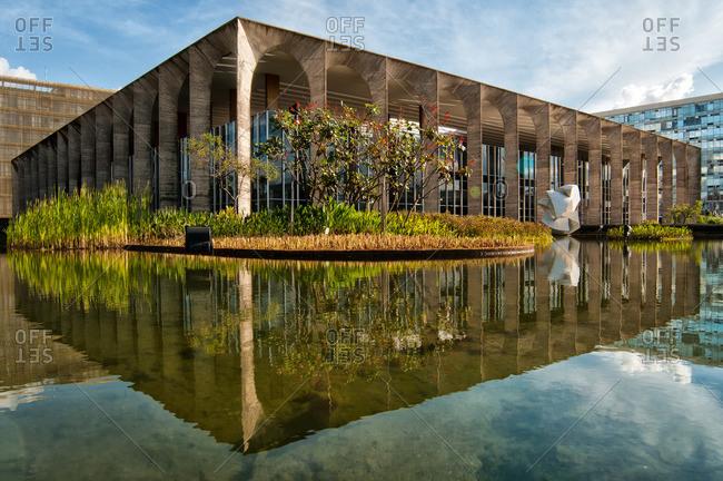Brasilia, Brazil - November 10, 2015: Itamaraty Palace in Brasilia, Brazil