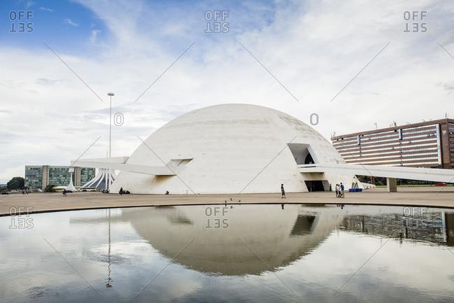 Brasilia, Brazil - November 10, 2015: Government building dome, Brasilia, Brazil
