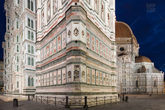 Gothic cathedral in Florence, Italy