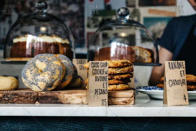 Bakery goods on a counter