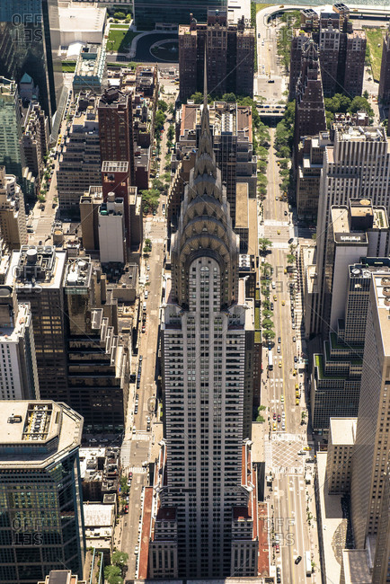 New York City, NY, USA - June 7, 2015:The Chrysler Building in Manhattan, New York City, NY