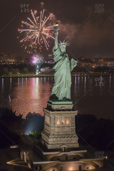 The Statue of Liberty on the 4th of July, New York, NY