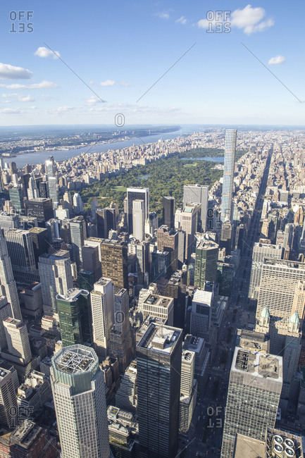 Central Park and surrounding buildings, Manhattan, New York City, NY
