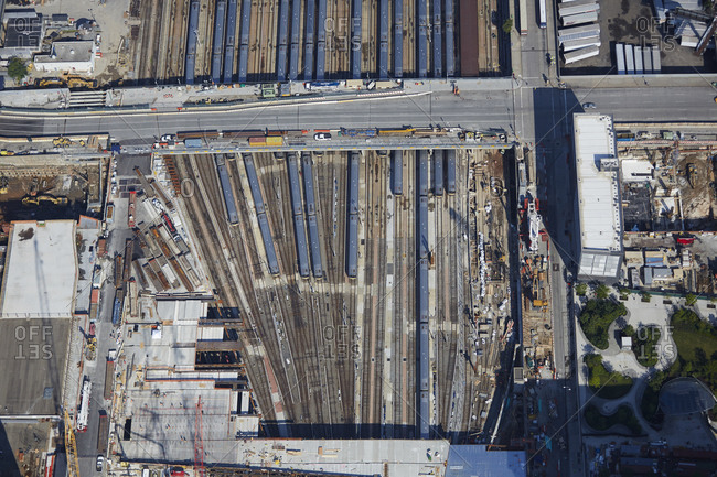 Aerial view of the Hudson Yards, Manhattan, New York City, NY