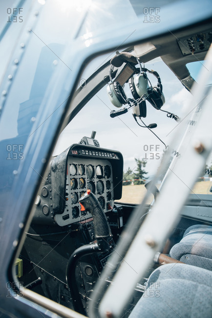 Interior of a helicopter