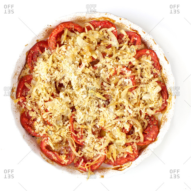 Tomatoes, onions and parmesan