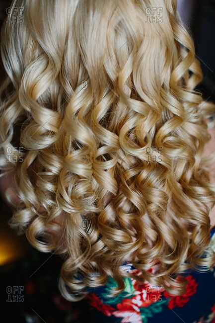 Woman with blonde ringlets
