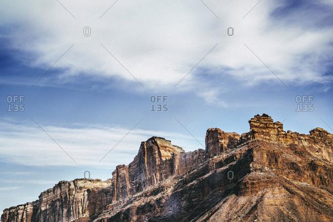 Colorado National Monument under blue sky