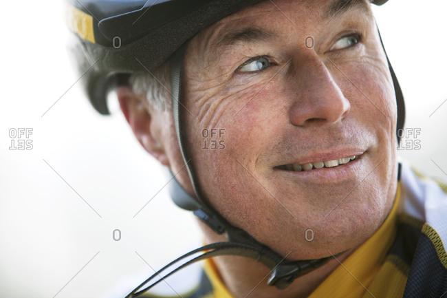 Portrait of a senior bicyclist