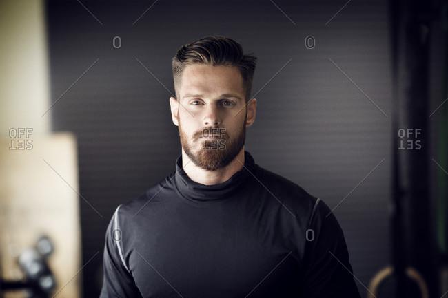 Portrait of a fit man at a gym