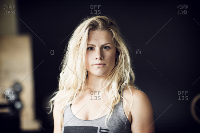 Portrait of a fit woman at a gym