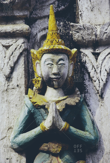 Buddhist sculpture at Wat Pho temple in Bangkok, Thailand