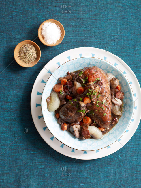 Pot roast with mushrooms and carrots